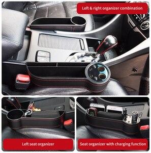 Image 4 - Deelife Car Seat Gap Organizer Slit Pocket PU Case Storage Box Cup Drink Holder Auto Seat Side Organizer
