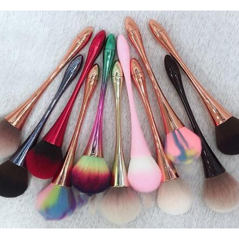 Cepillo para polvo de uñas de 3 colores (Grande) 1 ud. Cepillo para polvo de uñas cómodo y suave gel UVGel Nailon/cepillo de pelo/cepillo de maquillaje/cepillo de uñas #
