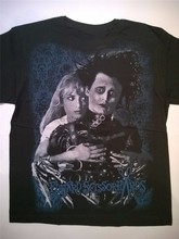 Edward Mani di Forbice T-Shirt Tim Burton Johnny Depp Goth Punk Film Colorato Tee Shirt(China)