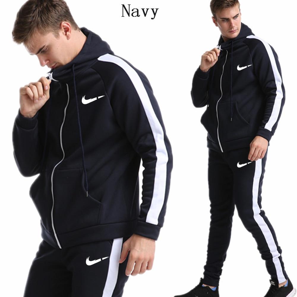 2019 New Fashion Men Hoodies Suits Brand Tracksuit Men/Women Sweatshirts+Sweatpants Autumn Winter Fleece Hooded Pullover