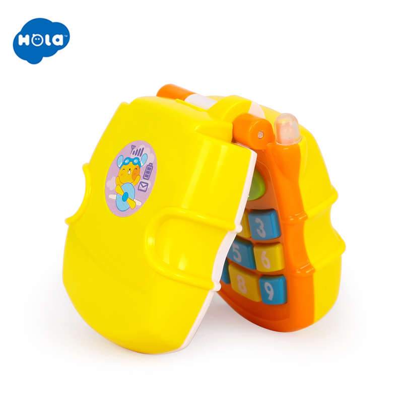 HOLA TOYS 766 Baby Toy Flip Phone Toy Baby Learning Study Musical Sound Phone Learning Educational Toy for Children image