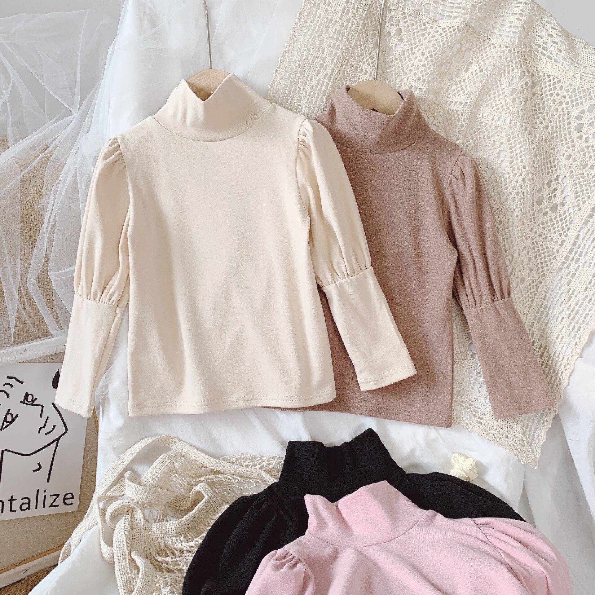 2021 Autumn New Arrival Girls Long Sleeve Cotton T Shirt Kids Puff Sleeve T Shirt  Princess T Shirt 4