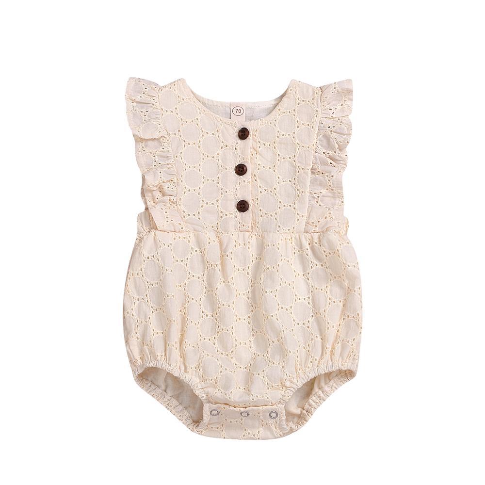 Newborn Infant Baby Girls Kids Lace Romper One Piece Bodysuit Playwear Clothes