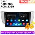 Автомагнитола 2 Din, 4G, Android, мультимедийный видеоплеер для Lexus RX300, RX330, RX350, RX400H, 2004, 2005-2009, GPS-навигация, аудио, 2 Din