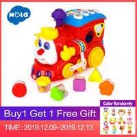 HOLA 556 bébé jouets IQ Train sur roues jouet électrique avec lumière et musique apprentissage jouets éducatifs pour enfants garçon cadeau de noël