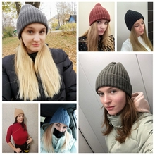 Soft Knitted Hat Women Beanie Winter Spring Solid Color Caps Lady Girls Knitting Muts
