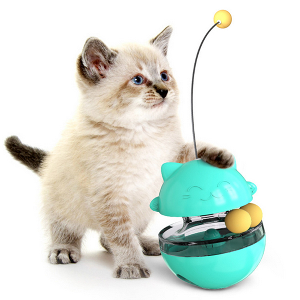 Cat Supplies Pet Toy Tumbler Leaking Food Ball Cat Turntable Toy Food Feeder Tumbler Food Dropping Ball Pet Toys With Free Gift