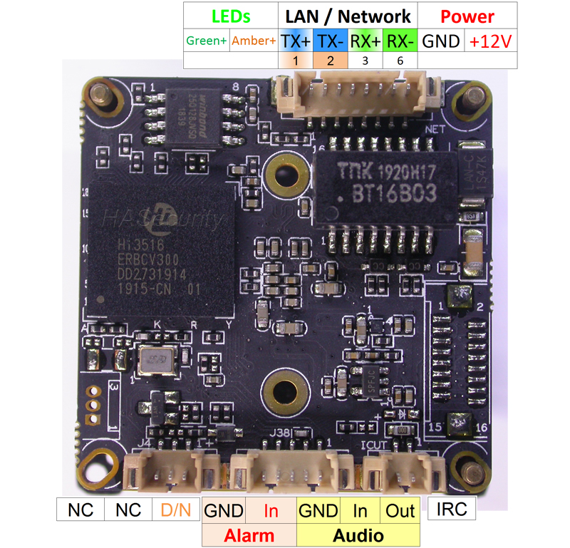 """Image 3 - F0.95 lens M16 IRC filter 1/2.8"""" SONY STARVIS IMX335 CMOS image sensor + Hi3516E V300 CCTV IP camera PCB board module +LAN cable-in Surveillance Cameras from Security & Protection"""