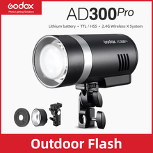 In Stock Godox AD300Pro Outdoor Flash Light 300Ws TTL 2.4G 1/8000 HSS with Battery for Canon Nikon Sony Fuji Olympus Pentax