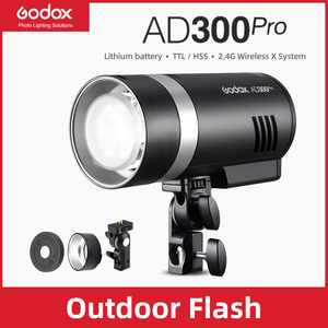 Image 1 - In Stock Godox AD300Pro Outdoor Flash Light 300Ws TTL 2.4G 1/8000 HSS with Battery for Canon Nikon Sony Fuji Olympus Pentax