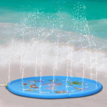 Dzieci zabawki dla zwierząt domowych zraszacz na zewnątrz pad dla dzieci niemowlęta dla dzieci zestaw do zabawy w wodzie o średnicy 170cm mata do zabawy tanie i dobre opinie Duży odkryty nadmuchiwane rekreacji Other 2-4 lat 5-7 lat 6 lat Outdoor Sprinkler pad