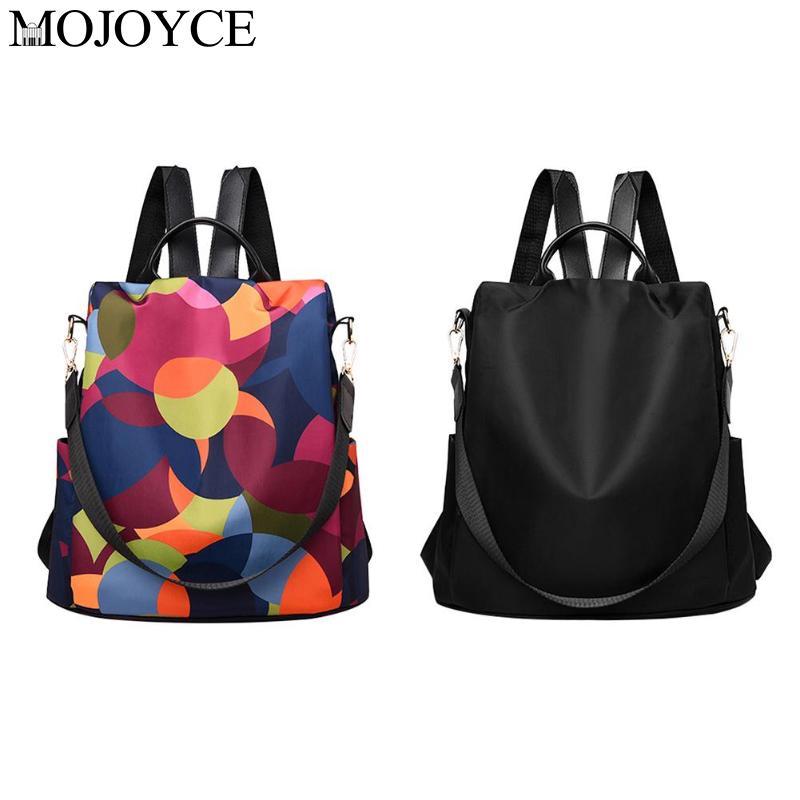 Waterproof Multicolor Print Backpacks For Women 2019 Anti Theft Travel Shoulder Bags Fashion Women's Bag Female Rucksack Mochila