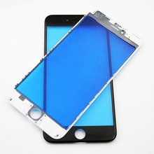 White&Black Front Glass For iPhone 6 6S Plus Touch Panel+Middle Frame/Bezel For iPhone 7 5S SE Touch Screen Outer Panel Lens цена