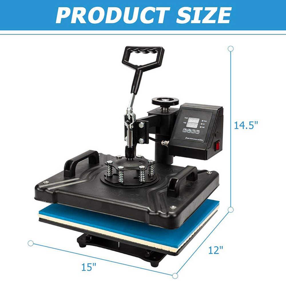 Förderung doppel display 30*38CM 8 in 1 Combo Hitze presse Maschine Sublimation Drucker für t-shirt/becher/telefon fällen