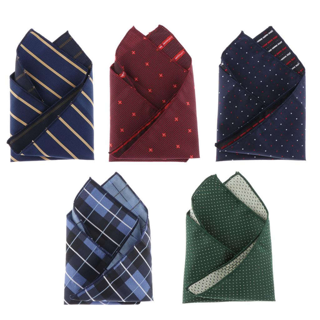Cotton Handkerchiefs For Men & Women Retro Plaids / Dots / Stripes Hankies Polyester Fashion Pocket Squares Gift Wristband Towel