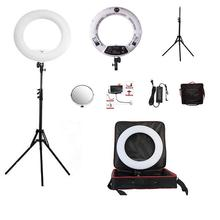 YidobloWhite FS-480II 5500K Dimmable Camera Photo/Studio/Phone/Video 18″48W 480 LED Ring Light LED Lamp+ 2M tripod +Soft bag Kit