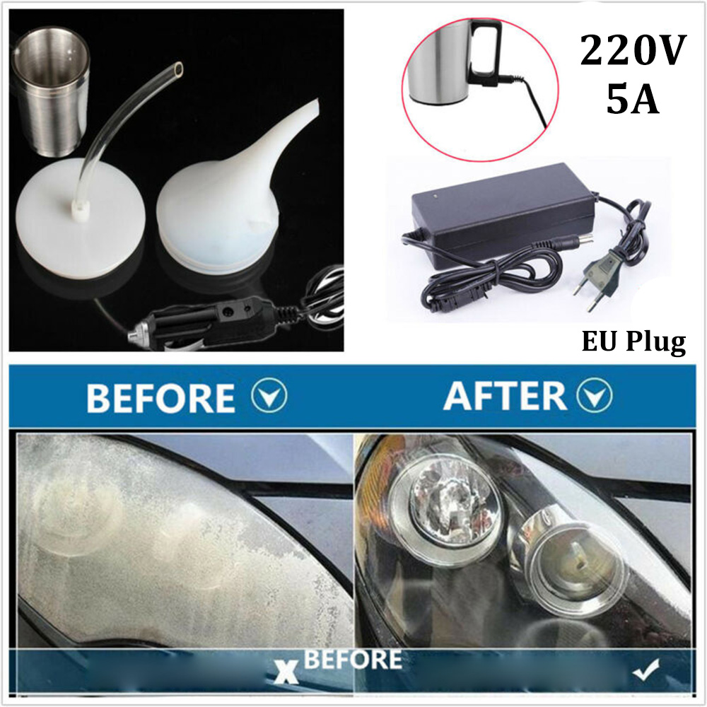 Car Headlight Restorer Repair Restoration Steam Polishing Chemical Tool Cleaner Headlights Refurbished Polish Polisher EU Plug