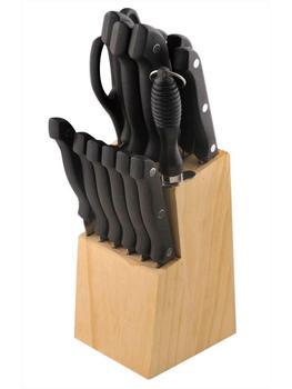Juego de Cuchillo de Cocina con Soporte de Acero Inoxidable 1.2MM -...