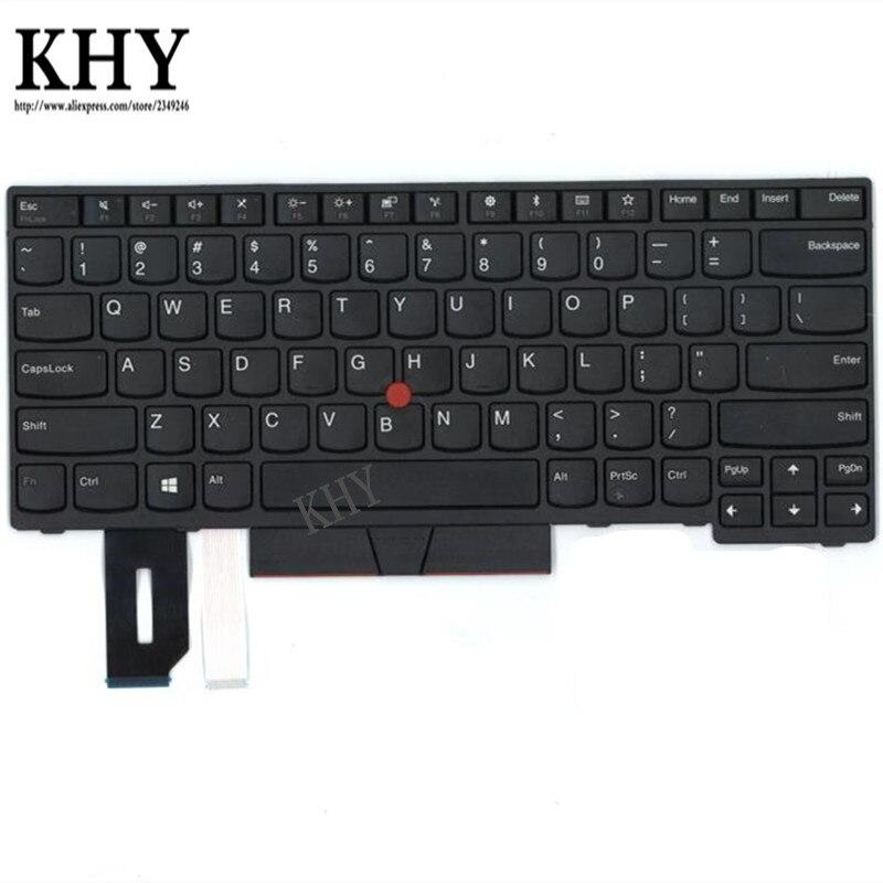 Inglês DOS EUA Teclado para Thinkpad E480 E490 T480S L480 L380 Yoga T490 T495 L390 Yoga L490 P43s 01YP320 01YP240 01YP480