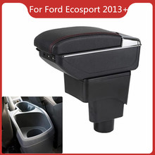 CAR ARMREST FOR FORD ECOSPORT 2013-2019 Car Accessories Parts Console Box Center Arm Rest With Cup Holder Ashtray Storage Box armrest for renault logan 2004 2019 car arm rest central console leather storage box ashtray accessories car styling