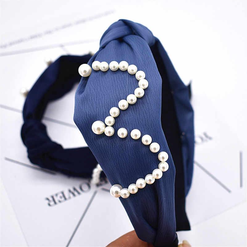 Женский обруч жемчужный заколка-Твистер бантик крест галстук бархатный головной убор повязка для волос обруч для волос аксессуары