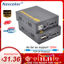 2020 Navceker HDMI KVM Extender Over IP Support IR Network KVM Extender USB HDMI 150M Over UTP/STP RJ45 KVM Extender CAT5 CAT6