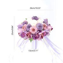 Bouquet Rose-Flowers Artificial-Chrysanthemum-Ball Table-Centerpieces-D Wedding-Bridal