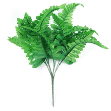 1pcs 7 Fork Simulation Fern Grass Green Artificial Leaf Shooting Props Persian  Home Shop Party Decoration