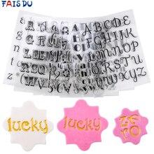 Timbres pour biscuits lettres gâteau doux lettres timbre décoration outils Fondant gaufrage bricolage Alphabet Cutter pâtisserie accessoires