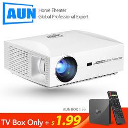 Аун проектор Full HD F30, 1920x1080 Разрешение. Светодиодный проектор для домашнего кинотеатра. 5500 люмен 3D Smart Beamer, сопоставимый 4 K