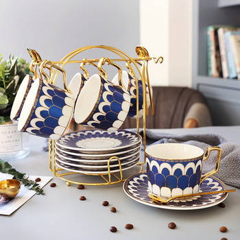 European Ceramic Tea Coffee Set English Royal Classic Bone China Royal Bone China Jingdezhen Porcelain Tea Cup Holder HH50BD