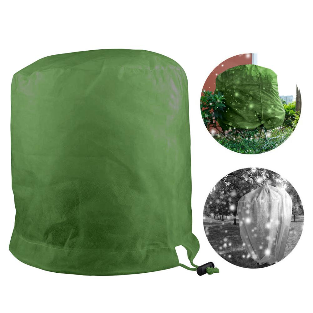 Cylindrical Plant Antifreeze Warm Cover Tree Shrub Plant Protecting Bag Frost Protection Yard Garden Winter Drawstring Plant Fru