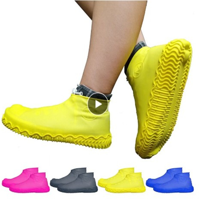 1pair Waterproof Shoe Cover Silicone Material Unisex Shoes Protectors Rain Boots For Indoor Outdoor Rainy Wear Resistan Elegant