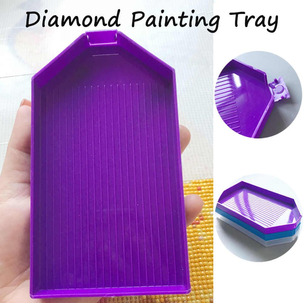 Neue DIY Diamant Malerei Diamant Stickerei Zubehör Große Kapazität Großen Bohrer Platte Kunststoff Tablett Große Kits geschenk