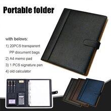Con il Computer Portfolio Folder Organizer di Cancelleria di Modo Conferenza Cartella Grande Capacità A4 di Affari del Sacchetto di Immagazzinaggio
