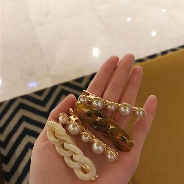New Handmade Chain Hair Clips Gold Color Long Barrettes Hair Clips for Women Girls Korean Fashion Hairpin Hair Accessories Gifts 6