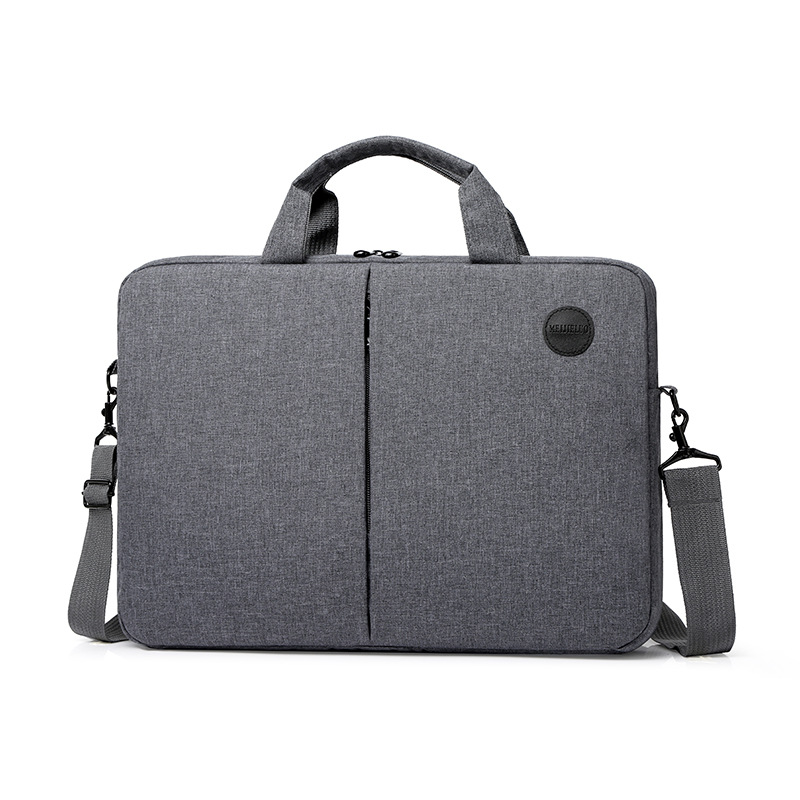 Портативный 15,6 дюймовый портфель, деловая Компьютерная сумка для мужчин и женщин, водонепроницаемая вместительная сумка через плечо для
