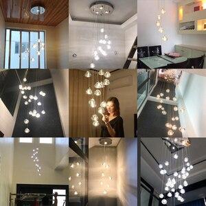Image 4 - 天井のシャンデリアキッチンロング階段照明モールヴィラホテルランプロフトクリスタルボールledシャンデリア