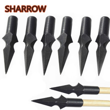 3/6/12pcs Archery Traditional Broadhead 215grain Arrow Target Point Tips Arrowhead For Outdoor Shooting Practice Accessories