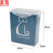 5.8L Cat Food Container Small Dog Puppy Storage Box Anti-oxidation Keep Fresh Closed Type Pet Cats Dry