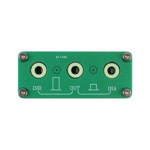 Image 4 - Ghxamp 3.5mm אודיו אות switcher 2 קלט 1 פלט בורר עם אלומיניום מעטפת אוזניות אודיו מתג לוח 1pc