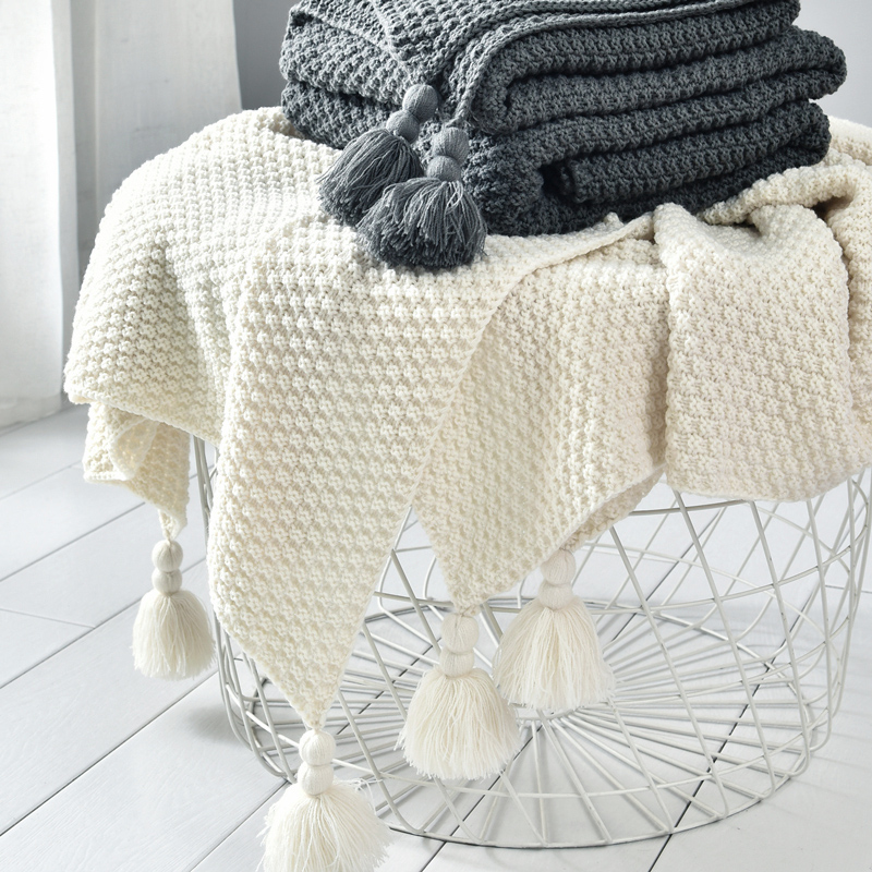 Nordic Sofa Blanket Office Nap Shawl Blanket Chunky Knit Blanket Leisure Air Conditioning Blankets For Beds Weighted Blanket Vs