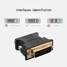 24 + 5Pin DVI to VGA Adapter Digital to Analog DVI-I PC TFT Beamer Plug Socket Converter FKU66(China)