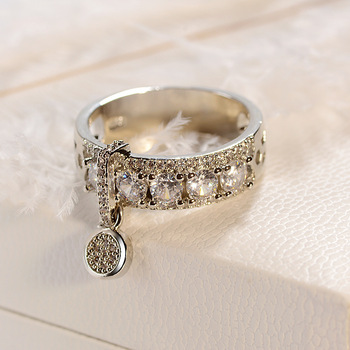 14K Rose Gold Round Diamond Ring for Women Gift Fashion Anillos Wedding Gemstone Bizuteria 925 Sliver Topaz Rings Fine Jewelry 1