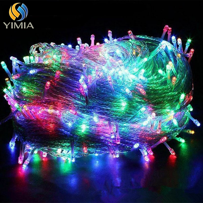 YIMIA Multicolor Christmas Lights 10M 100M Decorative Led String Fairy Light 8 Modes Garlands Lights For Wedding Party Holiday
