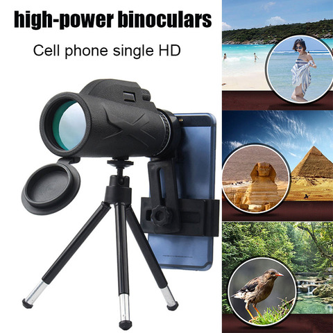 80x100 zooms monocular prisma portatil de alta definicao optica do telefone movel telescopio kit de