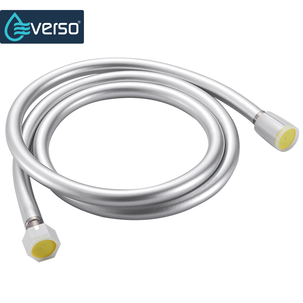 EVERSO High quality 1.5m PVC Flexible Shower Hose Bath room shower set accessories Explosion-proof pipes