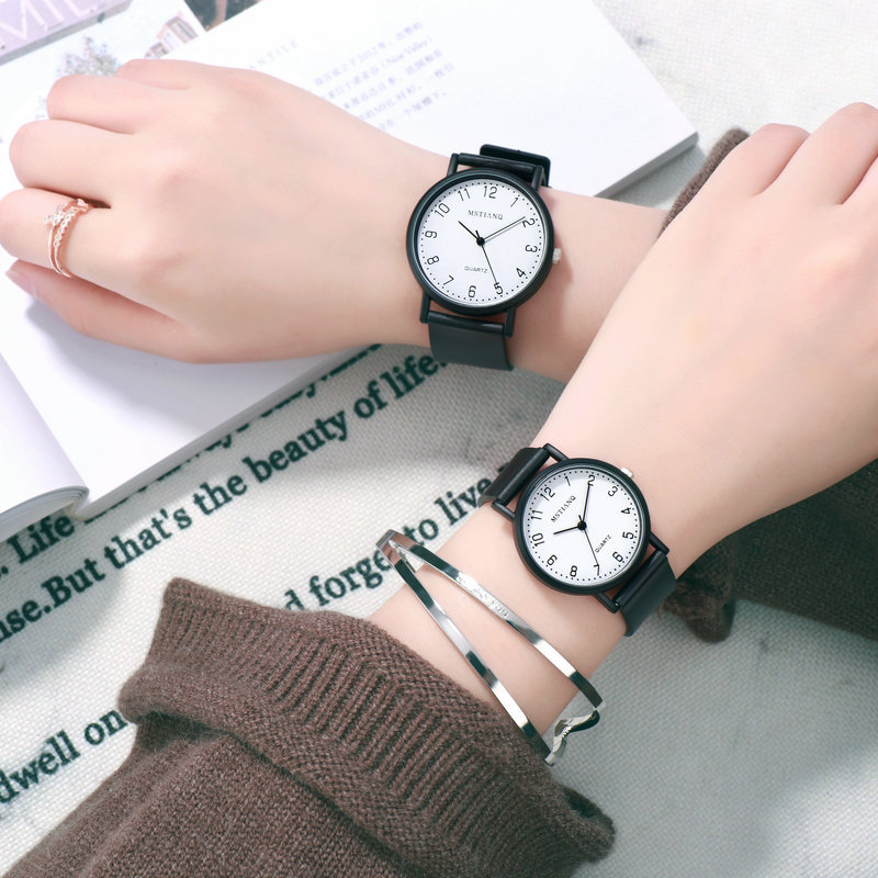 Lovers Watch Men Woemn Clock Fashion Simple Quartz Watch Couple Leather Band Alloy Wristwatches Relogio 2019