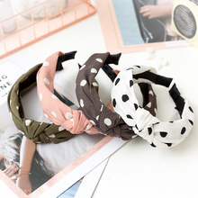 1PCS Fashion Soft Suede Knotted Hairband Dot Headwear Headband For Women Lady Handmade Bowknot Hair Hoop Hair Accessories набор спиннингиста agp цвет синий 30 оснасток