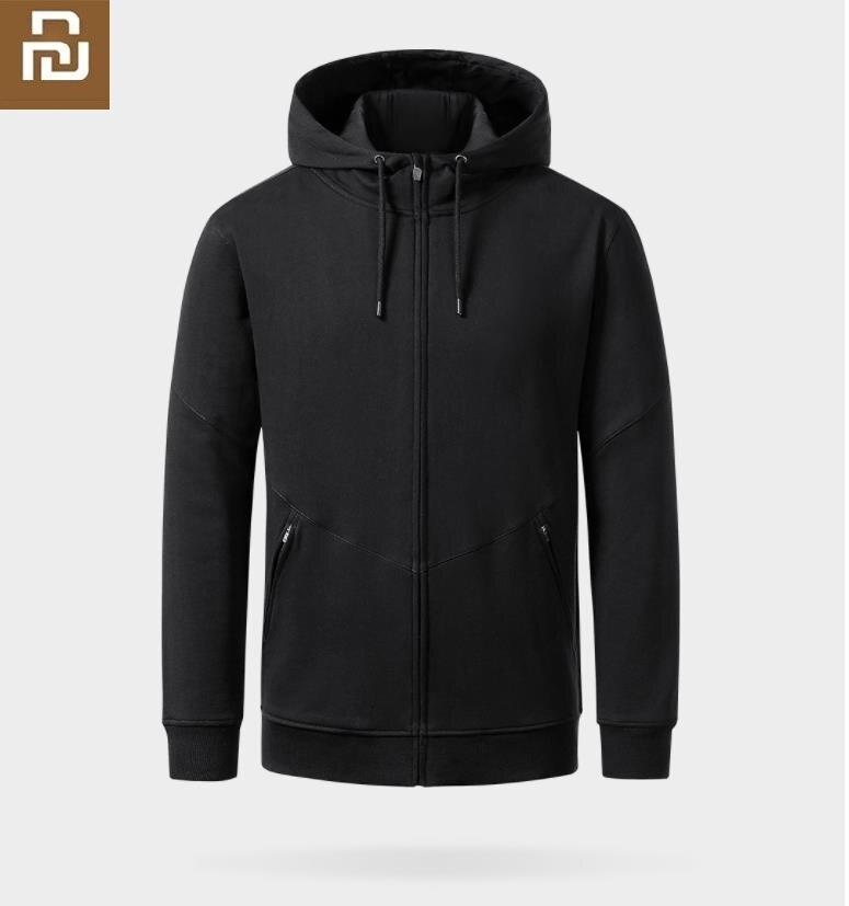 Youpin Uleemark Casual Men's Hooded Zip Cardigan Strong Fabric No Ball Long Men Zipper Sleeve Spring Autumn Coat Sportswear